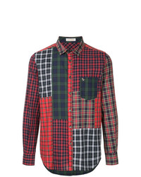 Education From Youngmachines Patchwork Plaid Shirt