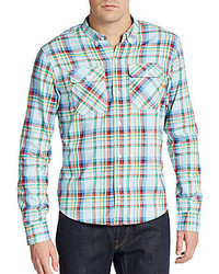 PRPS Liam Multicolored Plaid Cotton Sportshirt