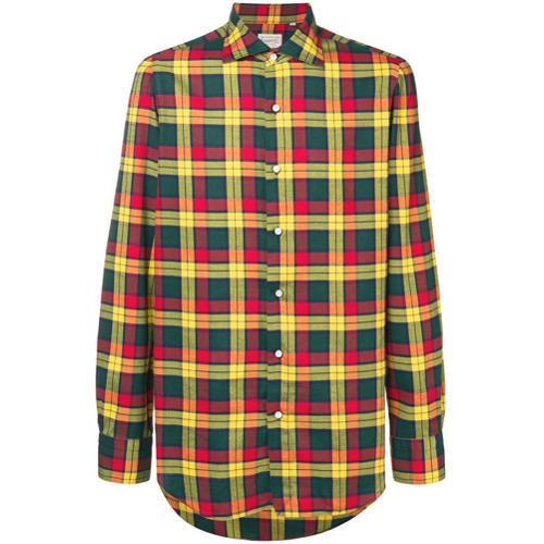 d0e1367ec70 ... Long Sleeve Shirts Finamore 1925 Napoli Tailored Plaid Shirt ...