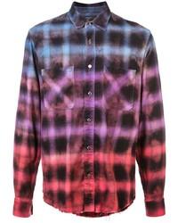 Amiri Tie Dye Check Shirt