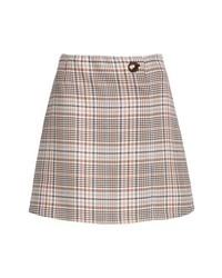 Sandro Plaid Miniskirt