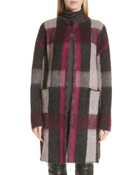 St. John Collection Brushed Line Plaid Mohair Jacket