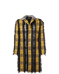 Multi colored Plaid Overcoat