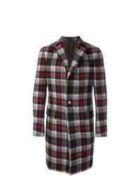 Z Zegna Check Formal Coat