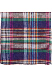 Multi colored Plaid Pocket Square