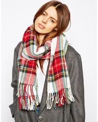 Asos Plaid Check Scarf