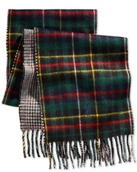 Polo Ralph Lauren Brownstone Reversible Plaid Scarf