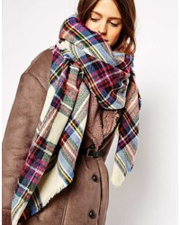 Asos Collection Oversized Square Scarf In Check