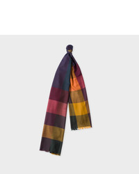 Paul Smith Green Check Lambswool Scarf