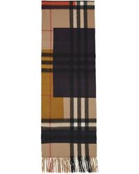 Burberry Multicolor Cashmere Colorblock Scarf