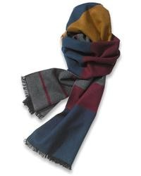 Tommy Bahama Silk Striped Color Blocked Scarf