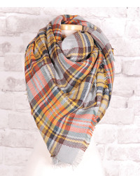 Yellow Plaid Scarf