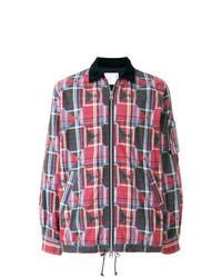 Multi colored Plaid Shirt Jacket