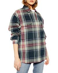 Topshop Biggy Tartan Jacket