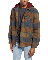 Brixton Bowery Plaid Flannel Hooded Jacket