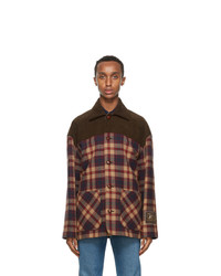 Gucci Brown Wool Check Jacket