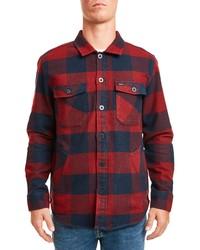 Brixton Durham Buffalo Plaid Button Up Flannel Shirt Jacket