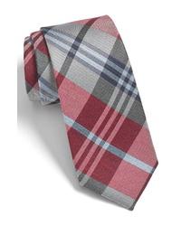 The Tie Bar Crystal Wave Silk Linen Plaid Tie