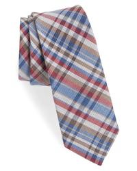 1901 Donelly Plaid Linen Silk Tie