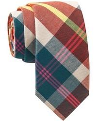 Skinny Tie Madness Haiku Killer Multi Color Plaid Tie