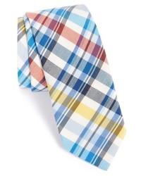 Ted Baker London Plaid Cotton Silk Tie
