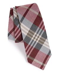The Tie Bar Plaid Silk Linen Tie