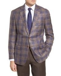 Hart Schaffner Marx New York Classic Fit Plaid Wool Blend Sport Coat