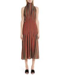 Beaufille Stripe High Neck Dress