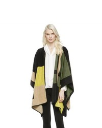 Vince Camuto Geo Jacquard Blanket Poncho