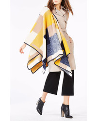 BCBGMAXAZRIA Mckenzie Color Blocked Poncho