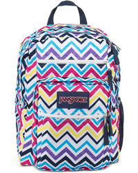 JanSport Big Student Backpack In Multi Saucy Chevron