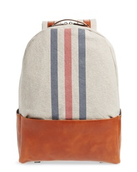 Eleventy Canvas Leather Backpack