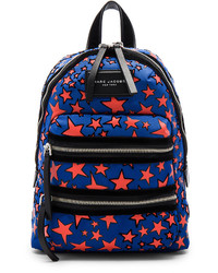 Marc Jacobs Flocked Star Printed Biker Mini Backpack