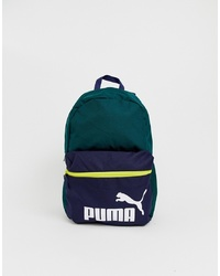 Puma Phase Colour Block Backpack In Green