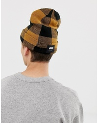 Vans Checked Mte Beanie In Yellow Vn0a3hj9bxh1