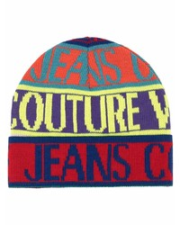 VERSACE JEANS COUTURE Intarsia Knit Wool Blend Beanie