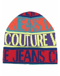 VERSACE JEANS COUTURE Logo Print Beanie