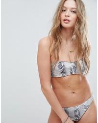 RVCA Feather Print Reversible Bandeau Bikini Top