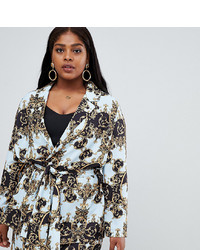 Asos Curve Asos Design Curve Tailored Soft Scarf Print Relaxed Blazer