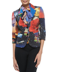 Libertine starry night two button blazer multi colors medium 382936