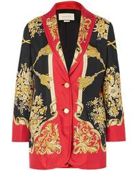 Gucci Printed Silk Twill Blazer