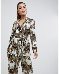 ASOS DESIGN Tailored Soft Scarf Print Relaxed Blazer
