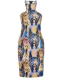 Dorothy Perkins Paper Dolls Snakeskin Racer Bodycon Dress