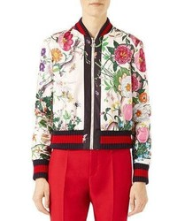 Multi colored Print Bomber Jacket