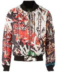 Fifteen and half abstract print bomber jacket medium 321161