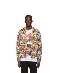 DSQUARED2 Multicolor Neon Letters Jacket