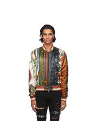 Amiri Multicolor Scarf Patchwork Bomber Jacket