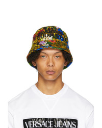 VERSACE JEANS COUTURE Multicolor Tropical Jungle Baroque Bucket Hat