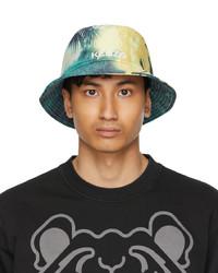 Kenzo Yellow High Summer Tropical Graffiti Bucket Hat