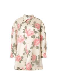 Maison Margiela Rose Print Longline Shirt